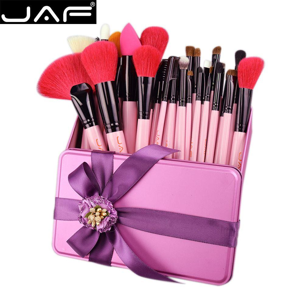 JAF 32 Makeup Brush Set Natural Hair Brushes With Gift Birthday Gifts Make Up Boxes Stores From Fzms 7053