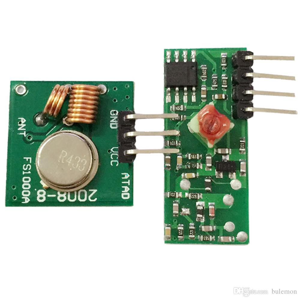 2018 433mhz Rf Wireless Transmitter Module And Receiver Kit For Circuit Arduino From Bulemon 684