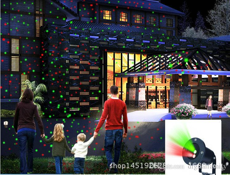 Outdoor Garden laser light Red and Green Projector Tree Landscape lamp 24patterns wireless remote controller for garden Christmas tree decor