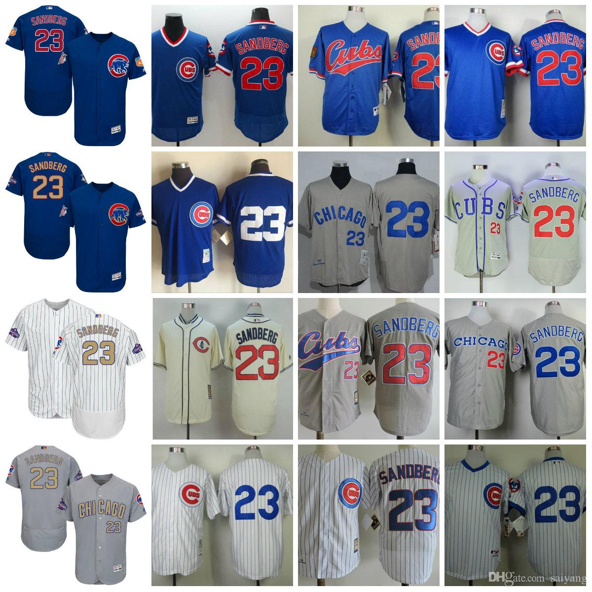2018 mens throwback 23 ryne sandberg jersey 1909 1929 1984 1988 1990 1994 turn back chicago