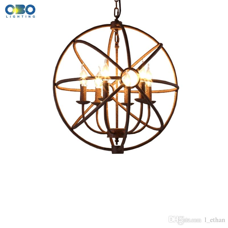 American Country Style Loft Candle Chain Pendant Lights Creative ...