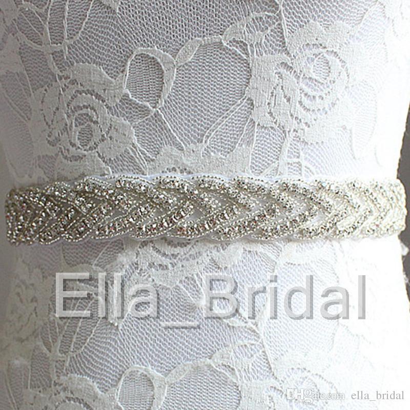 Cheap Price but High Quality Bridal Wedding Belt Hand Sew Braid Crystal Rhinestone Wedding Belt Sash with Elegant Ribbon Tie Back Hot Item