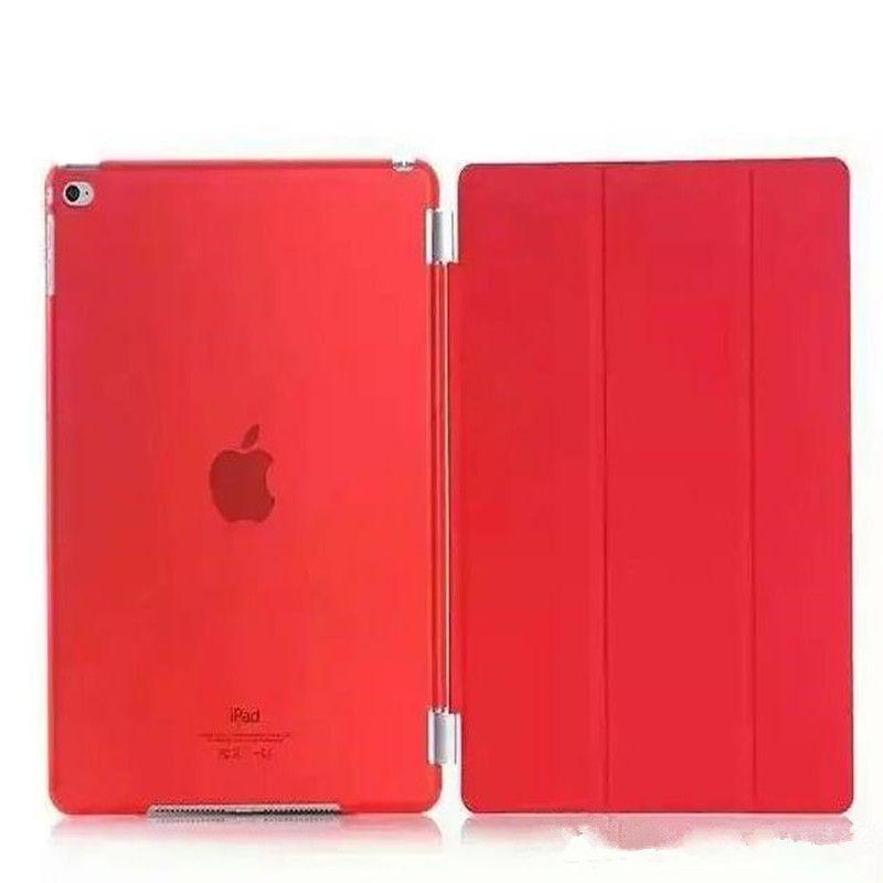 For Ipad mini mini2 mini3 mini4 Air Air2 3 4 Ultra Thin Smart Magnetic Foilo Cover Flip Stand Hard Clear Crystal Back Case