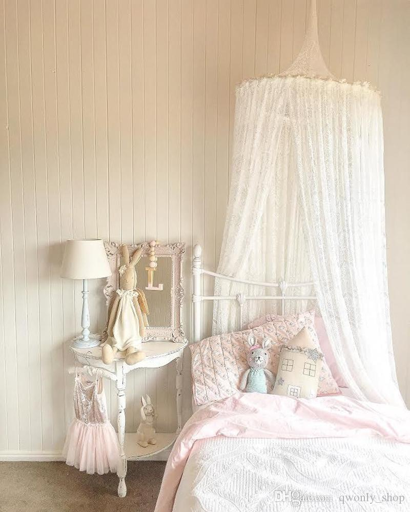 Lace Baby Round Mosquito Net Photography Props Baby Tent Hung Princess Home Bed Canopy Curtain Crib Netting Room Decoration