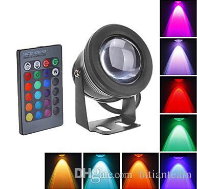 Новый 2017 10 Вт RGB LED подводный свет водонепроницаемый IP68 фонтан бассейн лампа 16 красочные изменения с 24key ИК-пульт