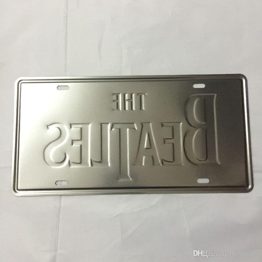 The Beatles Retro embossed Vintage metal tin signs garage car plate licence number plate painting plaque picture 15x30cm