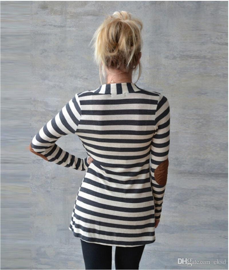 2017 패션 스웨터 여성 카디건 캐주얼 줄무늬 여자 가을 스타일의 옷을 긴 소매 면화 스웨터 NWY01 RF