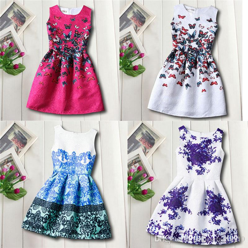 Captivating 2019 Girls Sleeveless A Line Dress Flower Butterfly Balloon Dresses Kids  Elegant Chinese Style Costume Kids Formal Skirts From Chinesefactory10, ...
