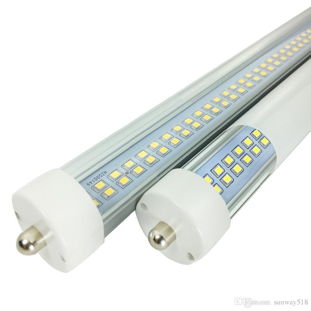 Toptan! sıcak Yeni SMD çift sıra LED 72W tüp ışık FA8 8FT 45W floresan lamba T8 tüp AC85-265V 8 ft tüp yüksek lümen