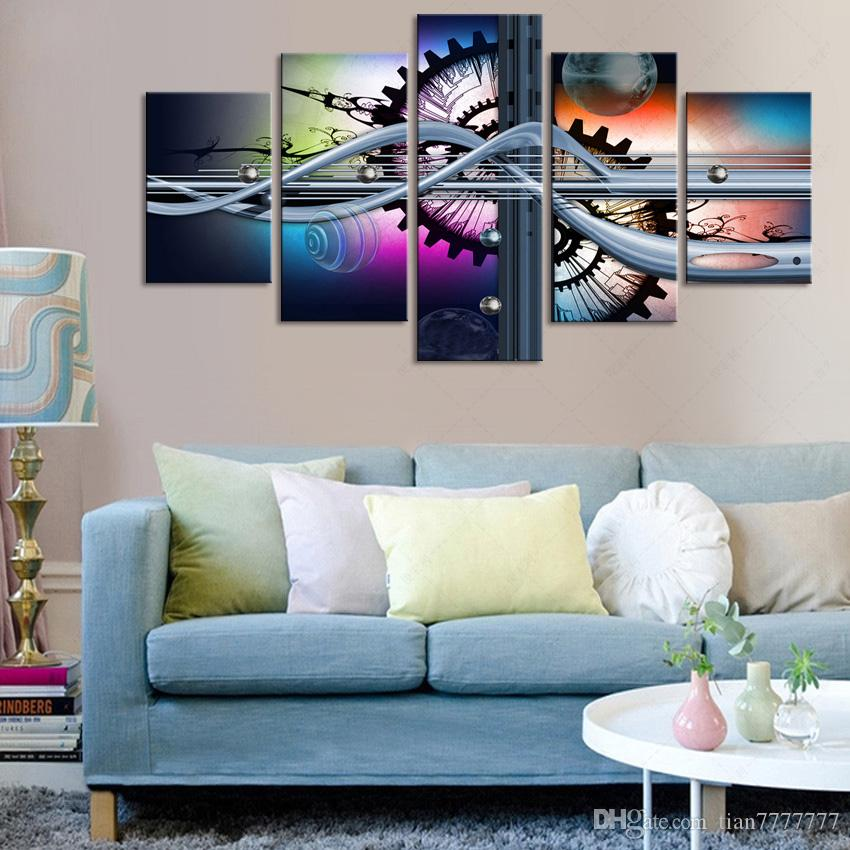 2017 Abstract Art Oil Modular Painting 5 Panel Unframed Canvas Wall  Paintings For Bedroom Modern Home Decoration Room Poster From Tian7777777,  ...