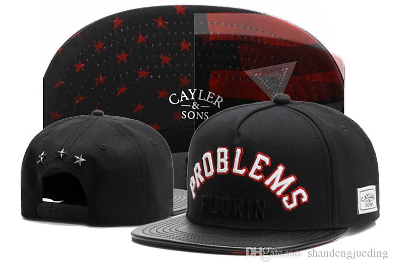 новая шляпа Оптовая Snapbacks шаровые шляпы мода улица головные уборы регулируемая Cayler сыновья пользовательские бейсболки drop доставка высокое качество