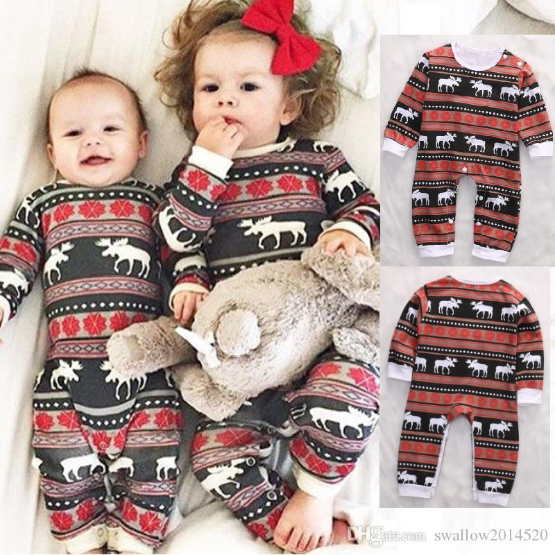 Halloween Costumes For Family Of 3 With A Baby Boy.Hot Selling Christmas Family Matching Pajamas Set Deer Printed Sets Kids Fashion Rompers Baby Girls Boys Nightwear Cotton Top Outfits
