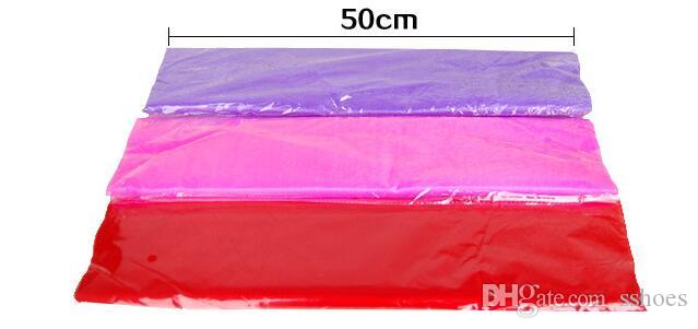 wedding party decoration Tulle Romantic Curtain Organza voile Chiffon for wedding background Chair cover Table Skirt 50cm*9m