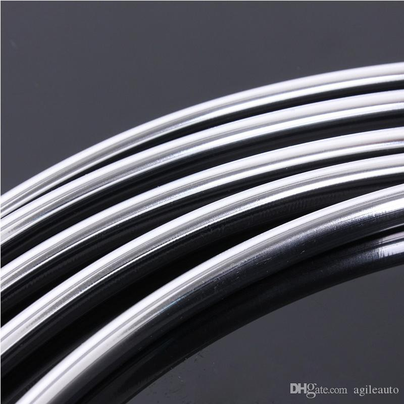 6M Chrome Moulding Trim Strip Car Door Edge Scratch Guard Protector Cover Strip Roll Fits Most Universal Car All Models CDE_00L