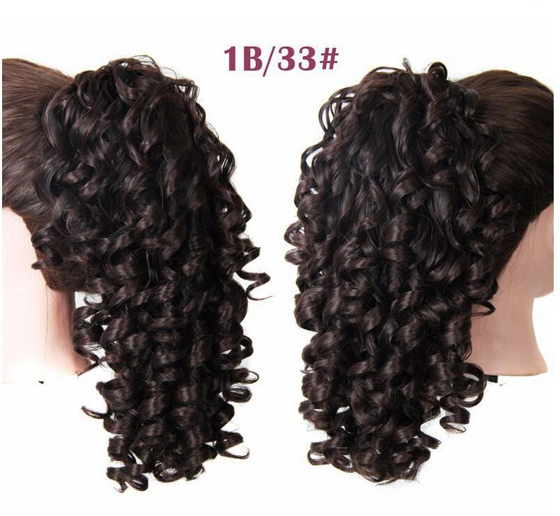 Xiu Zhi Mei Hot Sale! Lovely lady drawstring pony tail hair extensions for girls kinky curly drawstring ponytail hairpieces,