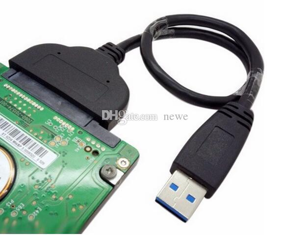 Sıcak USB 3.0 Ağ Bilgisayar Kabloları Konnektörler Süper Hız SATA 22 Pin 2.5 Inç Sabit Disk Sürücüsü SSD Adaptör Kablosu Dönüştürücü