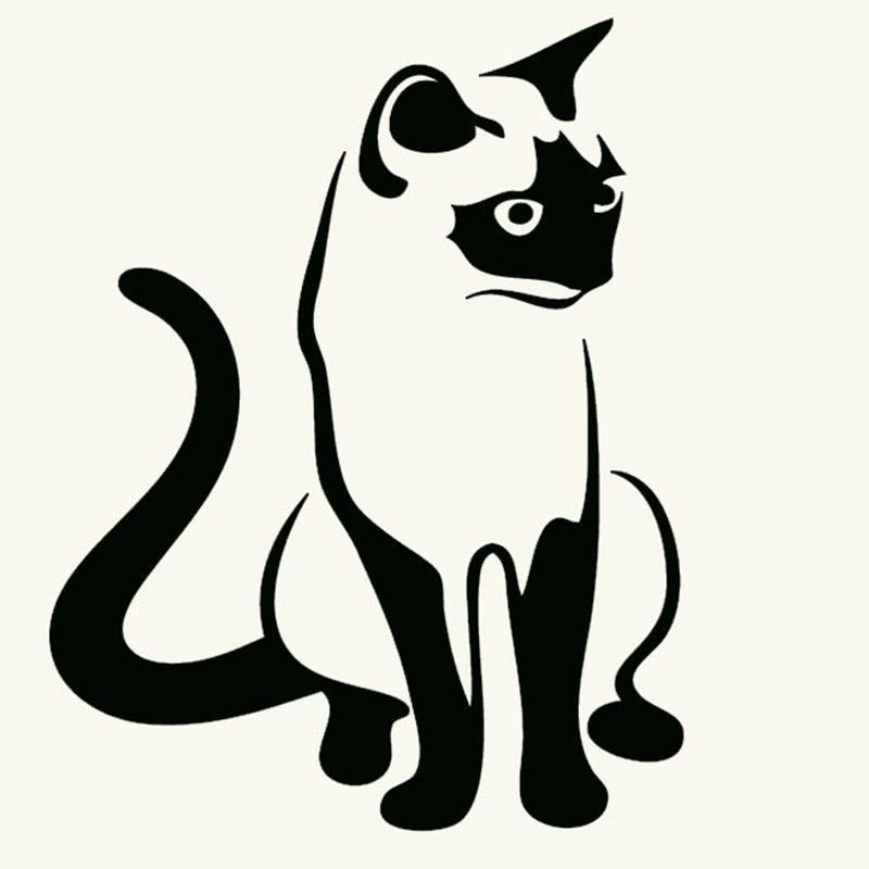 2019 Image Of Pet Animals Cat Silhouette Art Car Sticker