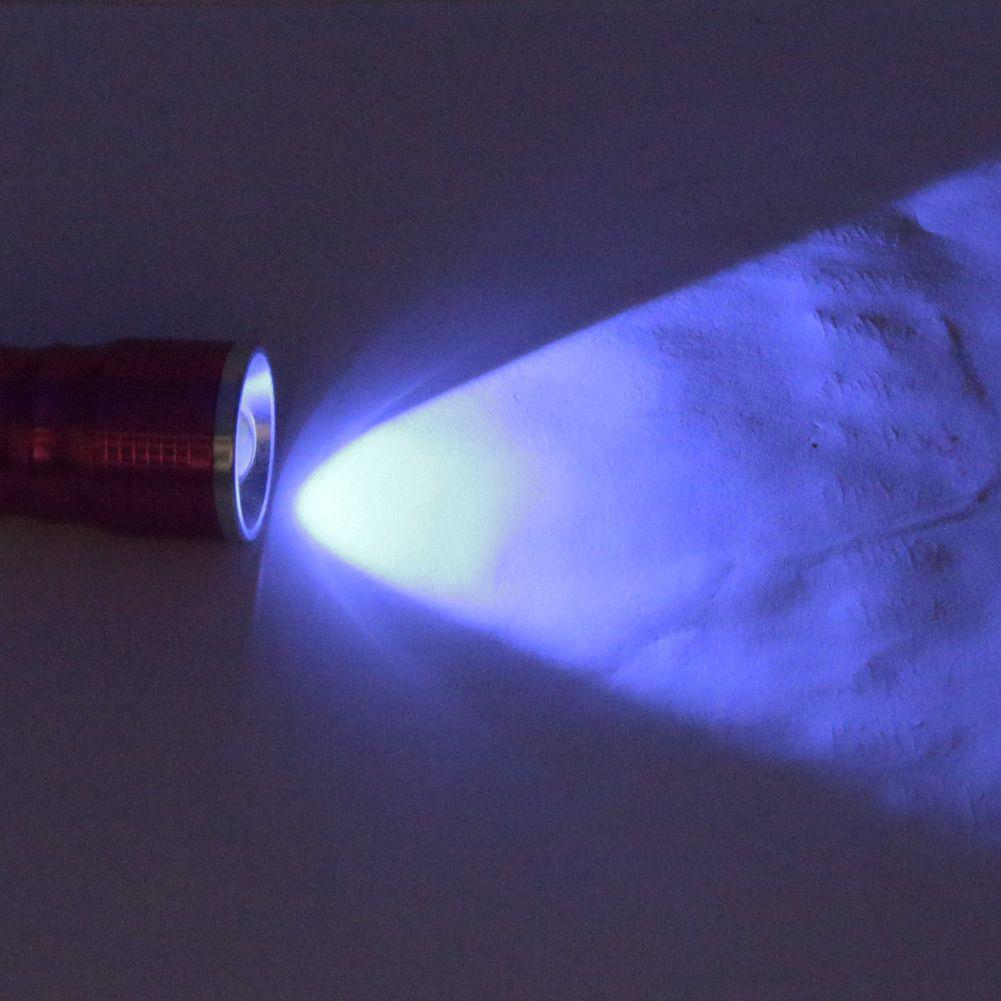 Rose New LED UV Flashlight 2 LED 395nm Viola Violet Light White Light 3-Mode Zoomable Torch Lamp