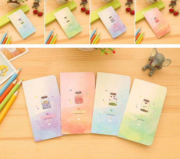 Wholesale- 1pcs Wish Bottle Notebook School Office Supplies Diary Note  Books For Kids Students Writing Pads