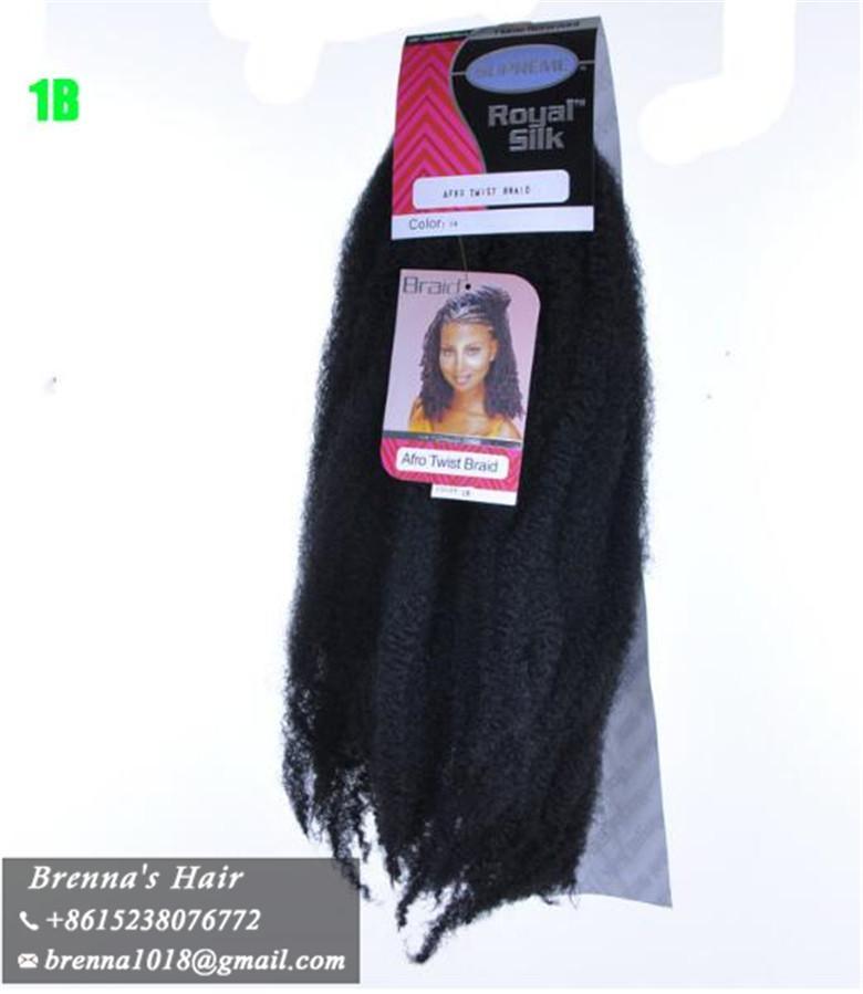 Envío rápido y regalos18 '' afro trenzado rizado cabello havana mambo ganchillo afro rizado marley trenzas cabello ombre kanekalon trenzado