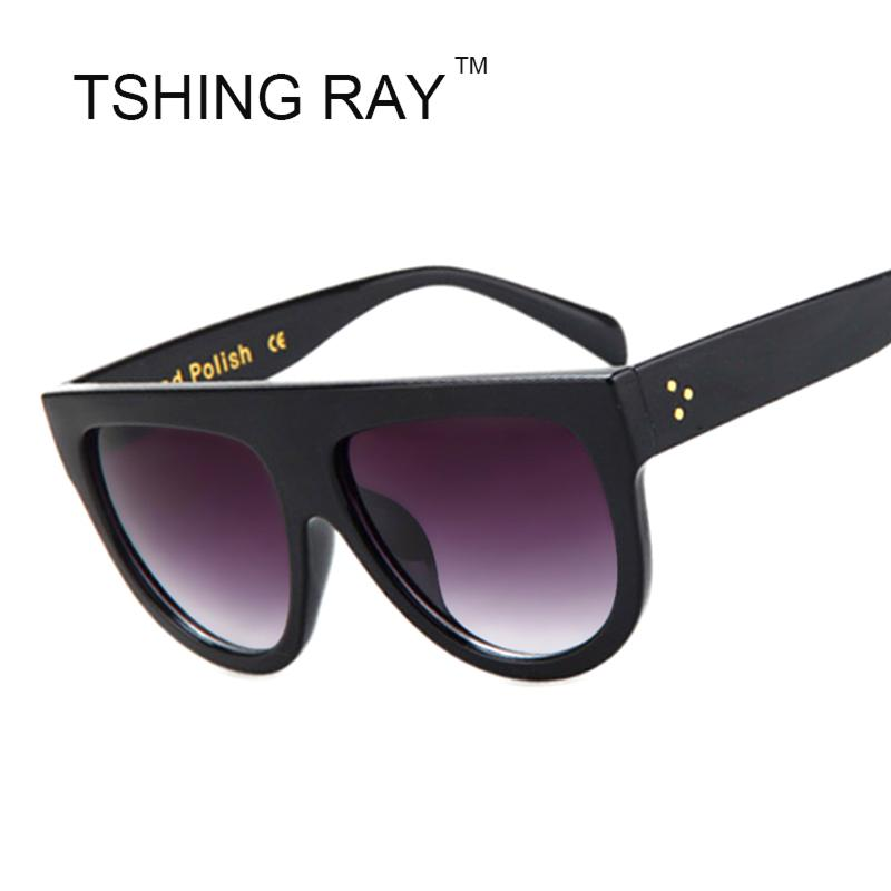 545e43e13fb9d Wholesale 2016 New Brand Designer Women Sunglasses Fashion Celebrity Sun  Glasses Flat Top Shield Lady Female Oversize Superstar Shades Best  Sunglasses For ...