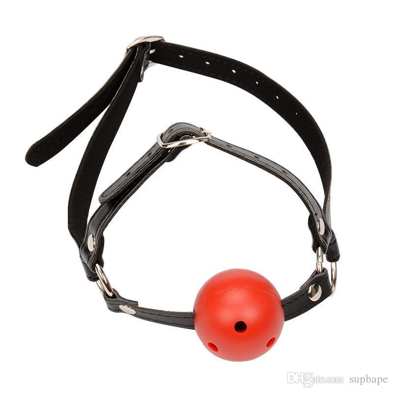 Freies Verschiffen Mini Weiche Silikon Ball Mundknebel Ballknebel Schwarz Rot Rosa Bondage Gag Ball Sex Spielzeug Erwachsene Spielzeug