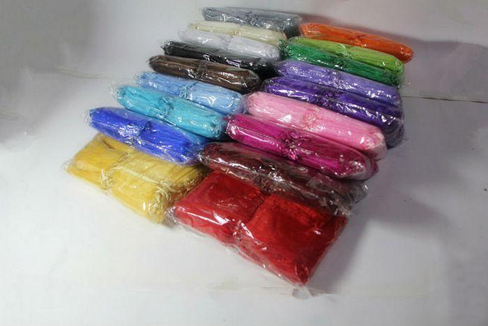 2000 sztuk 17x23cm Pure Color Premium Organza Ślubne Favor Torby Party Jewellery Prezent Wouch Studka Duża Szybka Darmowa Wysyłka