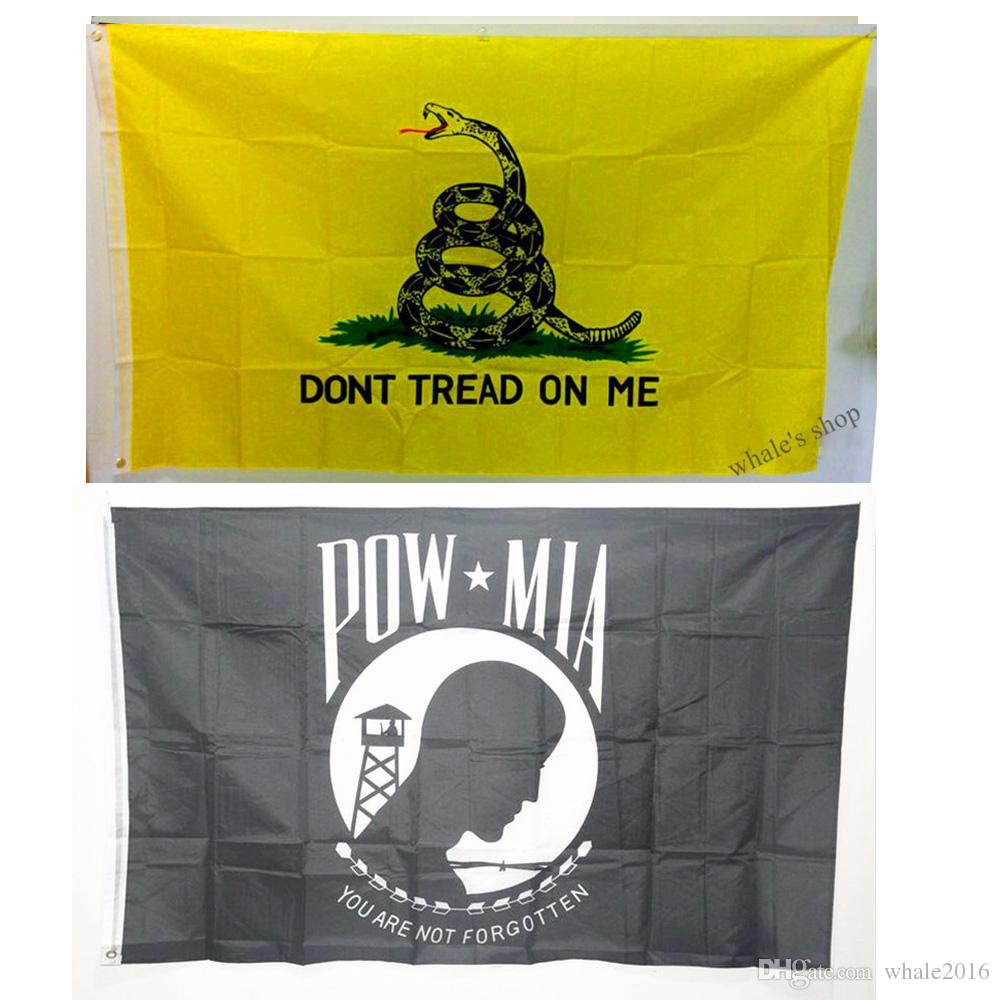 3x5ft 90*150cm USA Flag Dont Tread On Me Flag Pow-mia Flag You are ...