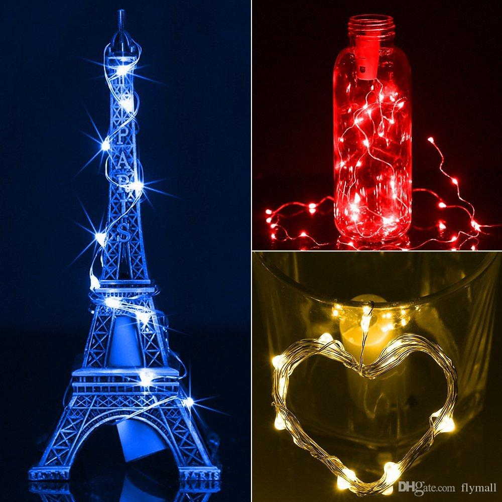 2M 20LED Lamp Cork Shaped Bottle Stopper Light Glass Wine LED Copper Wire String Lights Bottle Lights For Christmas Party Wedding Halloween