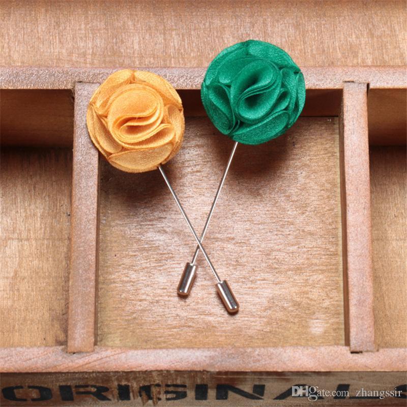 BoYuTe 30 шт. ручной работы мужчины отворотом булавки для костюмы мода ткань цветок брошь свадьба бутоньерка булавки Рождественский орнамент