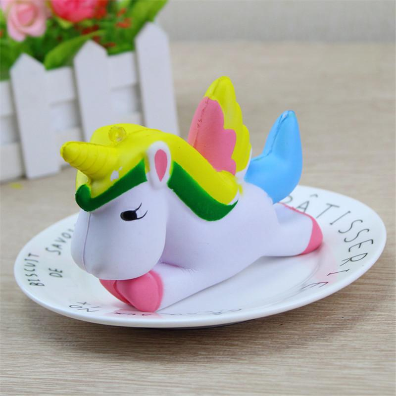 Cute Squishy Toys Animal Unicorn Slow Rising Simulation Bread Cake Stress Relief Toy for Kids Adults
