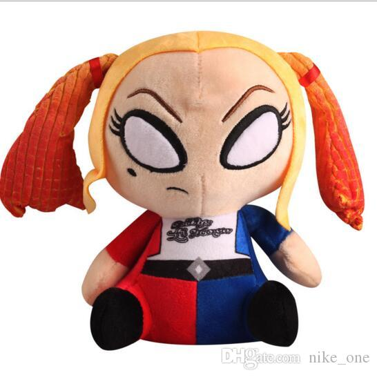 Action Figure Plush Toy Cartoon Comics Suicide Squad 8inch Harley Quinn Soft Stuffed Animals Anime Doll Toy Movie Gift for Baby Kids Gift