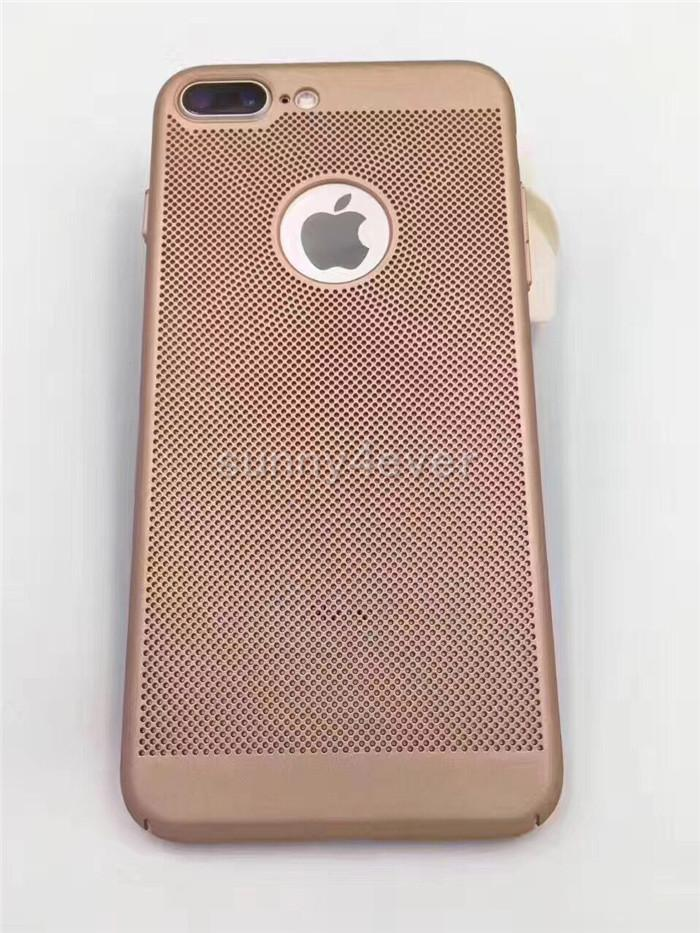 For Iphone 7 Heat Dissipation Matte Mesh net case Full Cover Grid Hollow Out Dot Back Cover for IPhone 7 6 6s plus