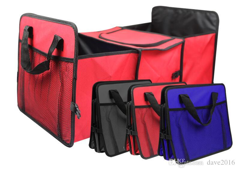Auto Trunk Organizer With Cooler Bags Multi Durable Collapsible