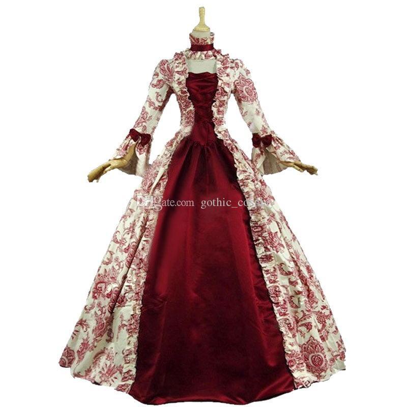 4d6c39582 Compre Victoriano Colonial Vestido Gótico Steampunk Vestidos De Época Gótica  Recreación Vestimenta Teatral Renacimiento Medieval Disfraces A  110.56 Del  ...