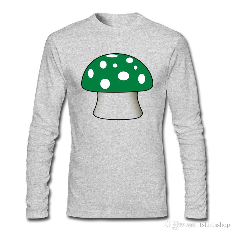 6182fe48acf9 2017 New Arriving Casual T Shirts Small Mushroom Printed T Shirts For  Unique Men Top Cotton Soft Shirts Buy A T Shirt The Coolest T Shirts From  Tshirtsshop