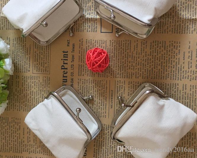 DIY beyaz saf tuval cüzdan kızlar küçük bozuk para cüzdanı boş düz tekne hediye debriyaj ajanda çanta el yapımı vakaları seyahati