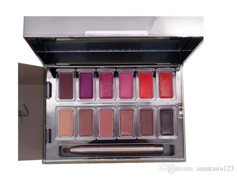 Instock! Vice Lipstick Lip Gloss Palette Cream Lip Makeup Long Lasting Cosmetics Limited Edition Lip Gloss Palette free