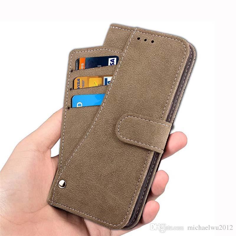 Etui pour téléphone portable étui en cuir téléphone avec porte-cartes de crédit pour iPhone 8 Etui pour téléphone portable étui pour iPhone6 / 7/8 Galaxy S7 / S8