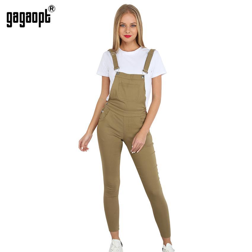 4c339445e1ce Wholesale- Gagaopt 2017 Autumn Women Jeans Overalls Solid Long Pants ...