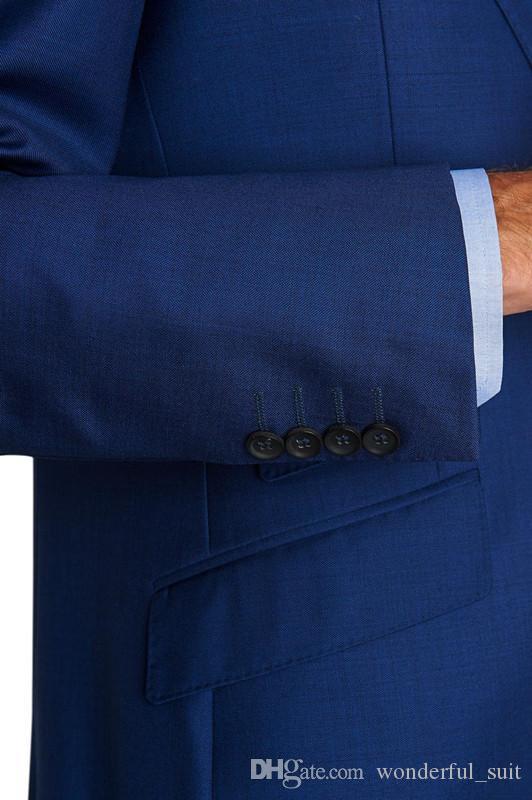 2015 Custom made man`s wedding suits three pieces tux Notch Lapel Groom Tuxedos evening Wedding best man Suits for weddingcoat+pants+vest