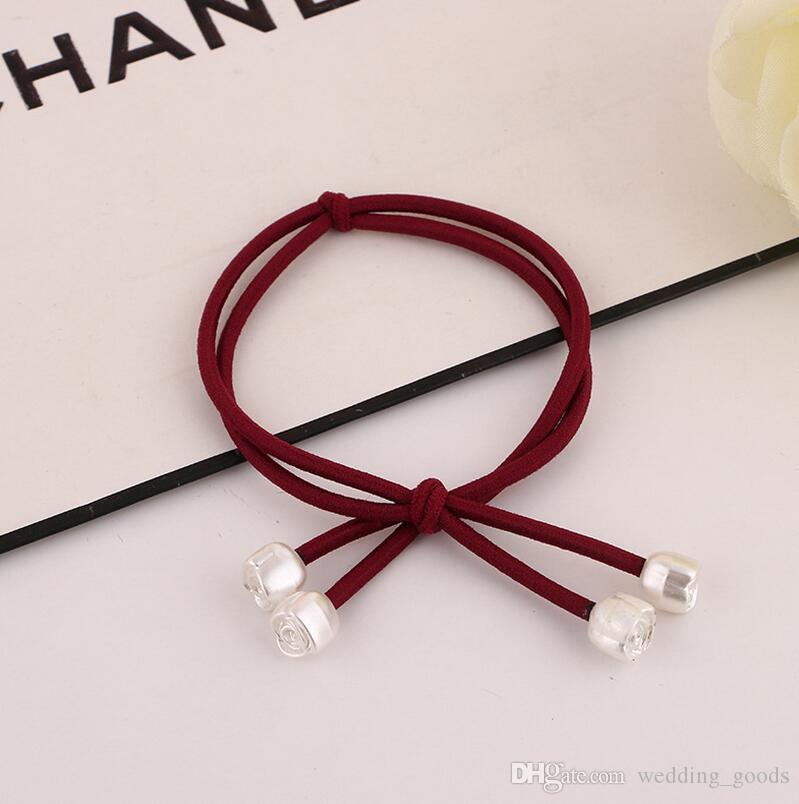 Vente chaude Arc cheveux noeud tête corde petit lotus frais pendentif cheveux tête cheveux ornements FQ007 ordre de mélange 100 pièces beaucoup