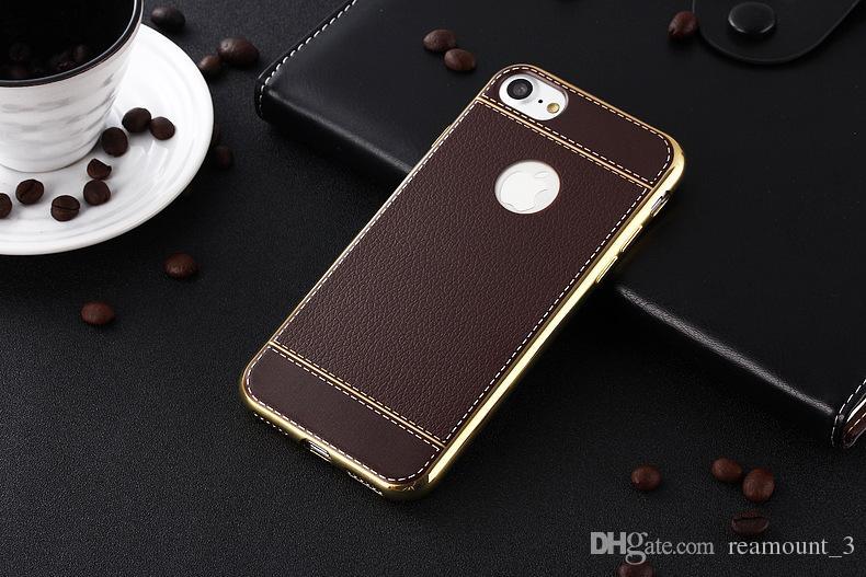 Neueste Litschi Korn Luxuxüberzug TPU Silikon-Handyfall für iphone 6 6s plus 7 Überzug-Feld klar Abdeckung für iphone6 7