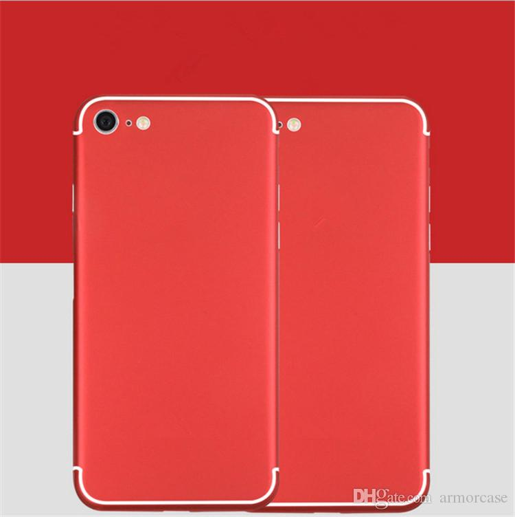 For Iphone 8 Sticker Chinese Red Cover Protectors Film Back Body Skin Stickers Plus 7 Good Best Phone Screen Glass