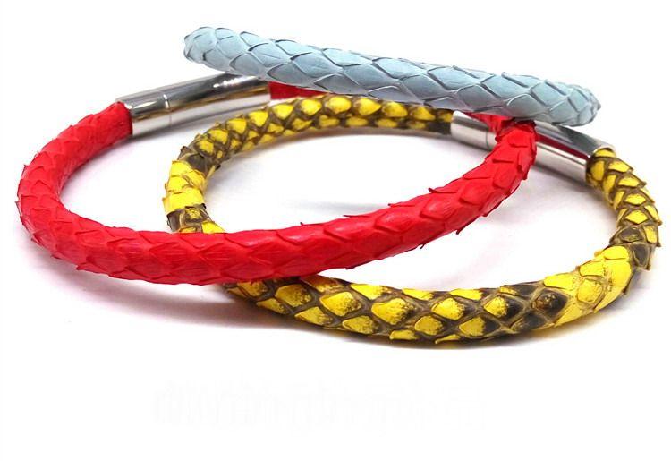 BC Luxus Armbänder Python Haut Lederarmband für Frauen Mann Beste Freunde Geschenk pulseira Großhandel dropship