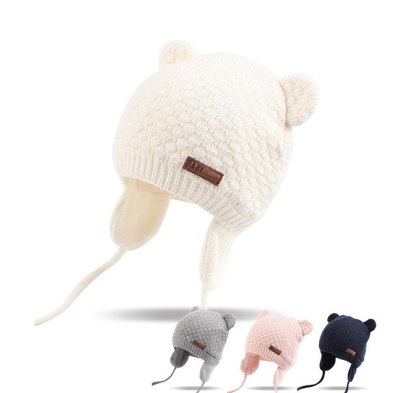 Compre Bear Ears Cute Baby Hat Suave Algodón Recién Nacido Beanie ...