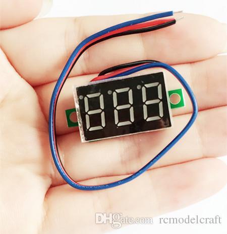 20 шт./лот 0.36 дюймов цифровой вольтметр три провода 3-значный dc 0-200 в напряжение панели метр тестер дисплей led Цвет Красный