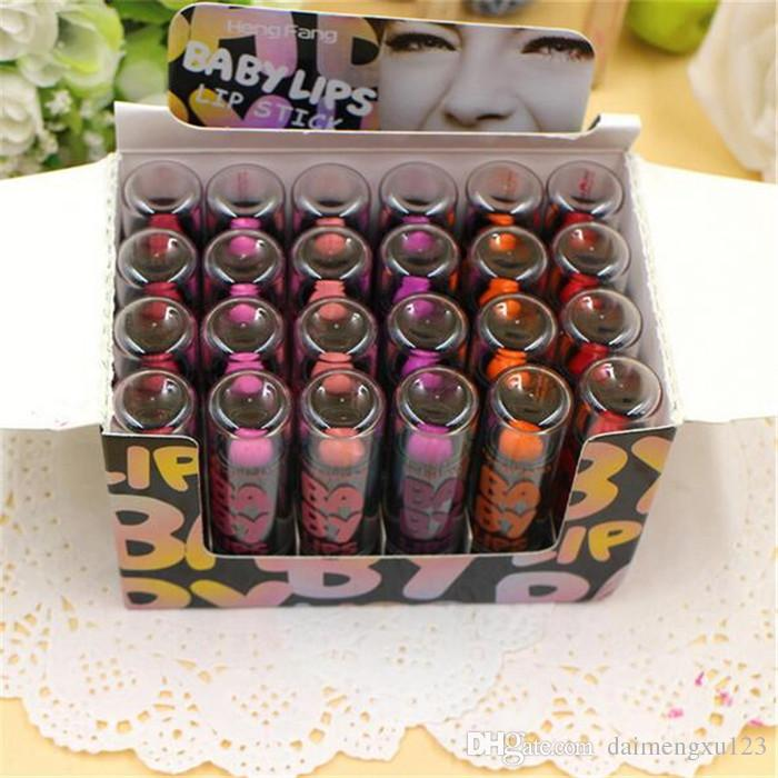 Branded Lip Stain The Balm Makeup Red Pink Purple Matte Colored Hengfang Lipstick baby Lip A123