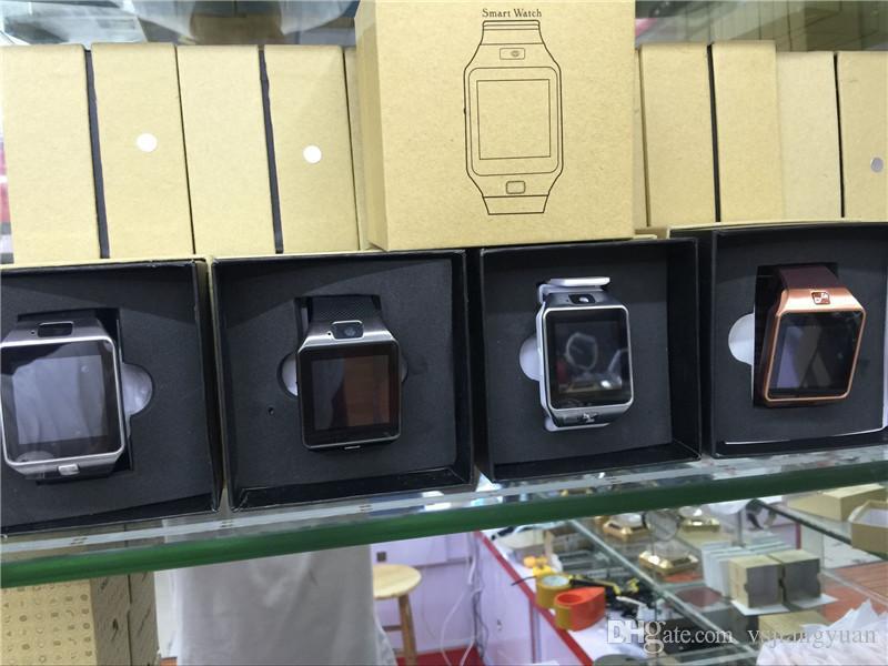 DZ09 Relógio Inteligente GT08 U8 A1 Wrisbrand Inteligente Android SIM Inteligente relógio do telefone móvel pode gravar o estado de sono relógio Inteligente
