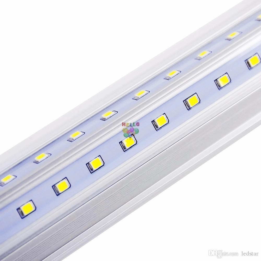 4FT 5FT 6FT 8FT LED T8 TUBES LIGHT V Формы светодиодные трубки для охлаждаемого дверного освещения Интегрированный светодиодный флуоресцентный свет AC 85-265V